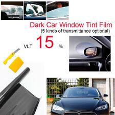 Coche a casa Tintado Película Teñido Oscuro Humo Negro 20/% 76 cm X 3 M Kit de Hágalo usted mismo