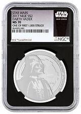 2017 Niue Silver Star Wars Vader $2 NGC MS70 1/First 1,000 Black SKU48064