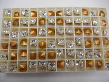 24 swarovski square rivoli stones,8mm crystal/foiled #4650