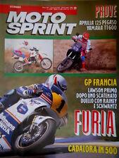 Motosprint 29 1989 Francia: Lawson 1° dopo duello con Rainey e Schwantz [Q77]
