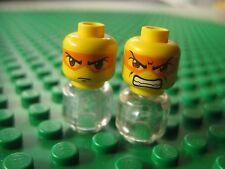 Lego HIKARU Minifigure HEAD LOT 2 pcs Exo Force Double Sided 8103 8114 7709
