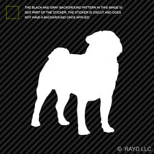 (2x) Pug Sticker Die Cut Decal Self Adhesive Vinyl dog canine pet