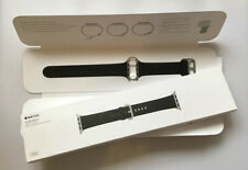 Genuine Apple Watch Strap LEATHER Classic Buckle 42mm /44mm BLACK Rare 2015