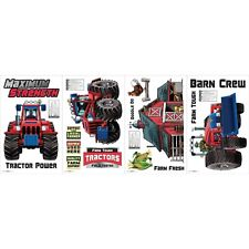 TRACTOR FARM 15 WaLL DeCaLS  Big Red Barn Room Decor Stickers Decorations Farmer