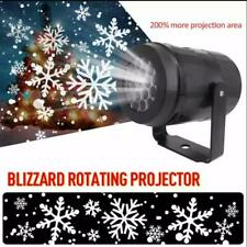 Christmas Snowflake LED Projector Lights Holiday Home Party Decor Night Lamp