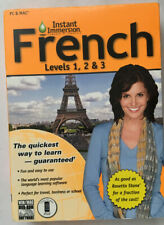 Instant Immersion French, Levels 1, 2 & 3, For PC & MAC, Computer Software