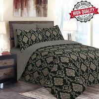 100% Cotton Duvet Quilt Cover Bedding Sets 4 Piece Modern Floral Fitted Sheet UK