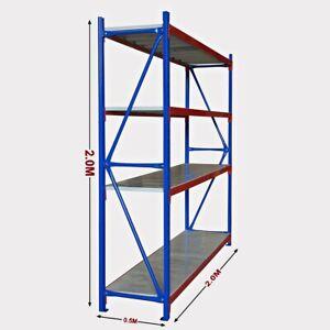 New 2M Warehouse Garage Metal Steel Storage Shelving Racking Bolted Range