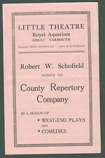 "Great Yarmouth, Little Theatre, ""Three Birds"", County Rep. Co., 1950s,   zb163"