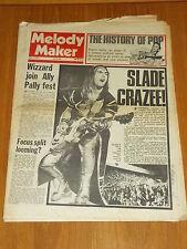 MELODY MAKER JULY 7 1973 DAVE HILL SLADE WIZZARD FOCUS WHEEL