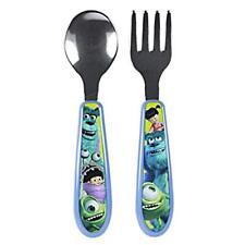 Monsters Inc Disney Children's Mealtime Flatware Set Spoon and Fork