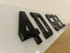 Pair of Number Plates Front and Rear 3d GEL Domed Gloss Black Legal Reg Car Van
