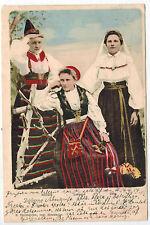 Swedish Women in National Wear from Dalarna Region, Sweden, 1900s