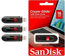 SanDisk Cruzer Glide 16GB USB Flash Drive Memory Stick Thumb Storage Lot3