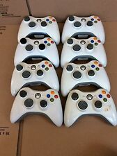 Lot of 8 Authentic Official Xbox 360 Controllers White Microsoft Brand