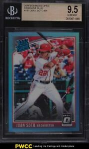 2018 Donruss Optic Carolina Blue Juan Soto ROOKIE RC /50 #181 BGS 9.5 GEM MINT
