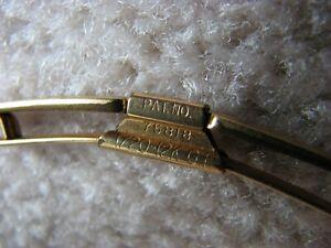 SWANK 12K Gold Filled Tie Clip Bar Clip Cufflinks Buttons