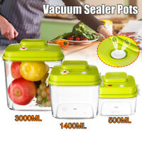 Fresh Food Storage Container Vacuum Sealer Food Pack Kitchen Picnic w/ Lids Lot