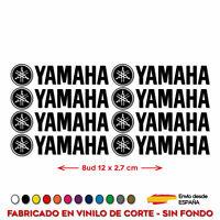 8X PEGATINAS YAMAHA VINILO PACK ADHESIVO LOGO KIT MOTO DECAL 12 CM x 2,7