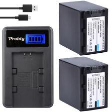 2pcs NP-FV100 FV100 Battery + LCD Charger For Sony DCR-SR15 SR21 SR68 SR88 SX15
