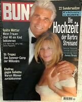 "BARBRA STREISAND RARE ORIG 1998 ""BUNTE"" GERMAN MAGAZINE WEDDING TO BROLIN ISSUE!"