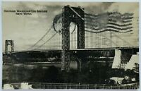 RPPC New York NY George Washington Bridge View 1930's 1933 Photo Postcard