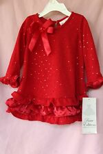 Rare Editions Valentine Christmas Red Holiday Dress 24 months Girls