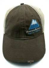 MAMMOTH LAKES, CALIFORNIA trucker style brown / beige adjustable cap / hat