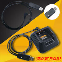 For BF-F8HP/UV-82HP/ UV-5x3/UV-5R/UV-5RA Black Walkie Talkie USB Charger Cable