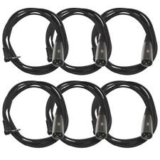 Seismic Audio - SA-iSTXMOX6-6Pack - 6 Pack of 6 Foot Right Angle Stereo 1/8...