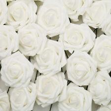 50/100 Artificial Foam Roses fake Flowers Wedding Bride Bouquet Home Decor
