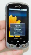 Samsung Moment SPH-M900 Android Sprint Cell Phone BLACK slider qwerty camera 3G