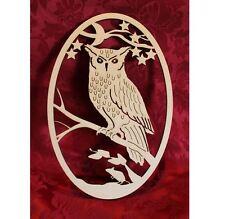 MDF Wooden Wooden keepsake box topper memory box owl plaque Craft wall door h...