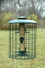 """New listing Woodlink Caged Seed Tube Small Bird Feeder 6 Reinforced Port 11"""" dia. x 15""""H"""