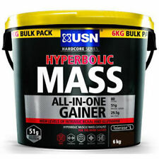 USN Hyperbolic Mass 6kg All In One Weight Gainer Protein Powder Shake Chocolate
