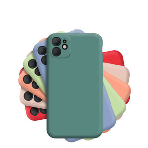 For Apple iPhone Shockproof Liquid Silicone Case 12 Pro Max 11 8 7 Plus X XS XR