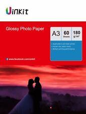 A3 180Gsm High Glossy Photo Paper Inkjet Paper Printer 420x297 Uinkit - 60 Sheet