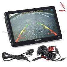 XGODY 7'' SAT NAV BT AV-IN 8GB Car GPS Navigator + Reversing View Camera EU Map