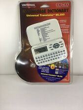 New Ectaco Handheld Electronic Universal Translator Dictionary Ml350 Free S/H