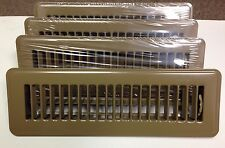 "BROWN 2""X10"" METAL FLOOR REGISTER/VENT FOR MOBILE HOME / RV / HOUSE - LOT OF 4"