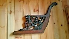 """Carved repurpose 29"""" tall 19th century griffins eagle arm couch carving"""