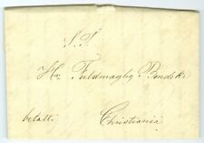 NORWAY: Paid cover to Christiania 1846.