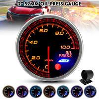 52mm Auto LED Öldruckanzeige Zusatz Instrument Öldruckmesser 7 Farben DC 12V