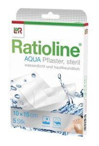 RATIOLINE aqua Duschpflaster Plus 10x15 cm steril 5 ST