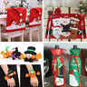 Christmas Decorations Santa Chair /Cutlery / Gift Bag Covers Dinner Decor Party