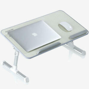 "PrimeCables® Adjustable Portable Standing Desk Laptop Bed Table for 17"" Laptop"
