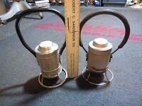 Antique vintage pair Adlake signal Brakeman Railroad Lantern 1-1933  1-no31 d