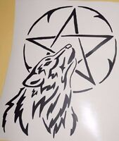 Bumper car Vinyl Sticker Motorbike decal window Bike vehicle Wolf pentagram