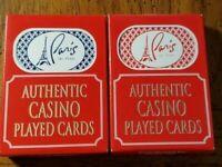24 Decks(2 Colors)Paris Casino Las Vegas Playing Cards. Used in Casino.