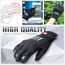 Pair Motorcycle Scooter Gloves Full Finger Motorbike Screen Touch Cycling Racing